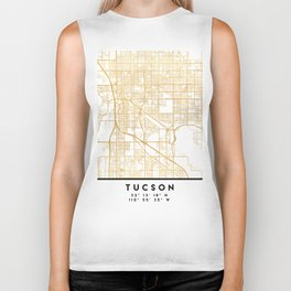 TUCSON ARIZONA CITY STREET MAP ART Biker Tank