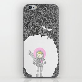Strong Warrior (Breast Cancer Version) iPhone Skin