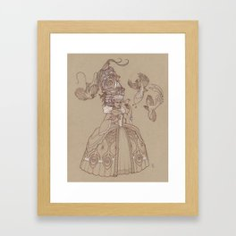 Baroque Bird Lady Framed Art Print