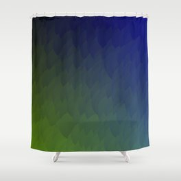 Ombre purple blue green peacock flames Shower Curtain