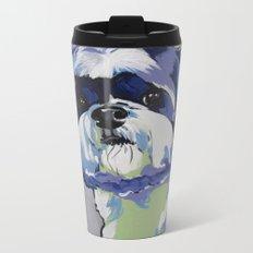 Shih Tzu Pop Art Pet Portrait Metal Travel Mug