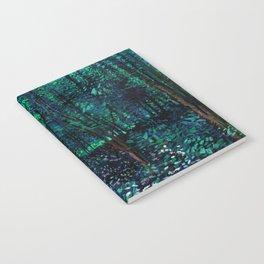 Vincent Van Gogh Trees & Underwood Teal Green Notebook