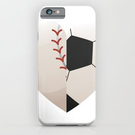 Soccer Baseball Heart Mom - Mothers Day Gifts iPhone Case