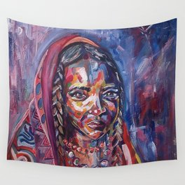 Cloaked Girl Wall Tapestry