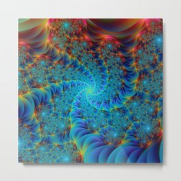 Root of all Spirals in Color Metal Print