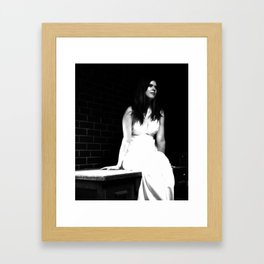 Lady in White (5 of 7) Framed Art Print
