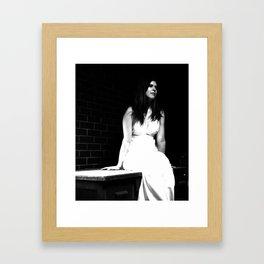 Lady in White (5 of 7) Framed Art Print