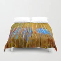cityscape Duvet Covers featuring Cityscape by Kaos and Kookies