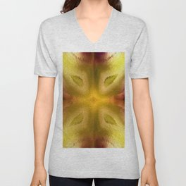 Agate Dreams in Yellow Unisex V-Neck