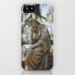 Bonaventure Cemetery - Statue of Eliza Wilhelmina Theus iPhone Case