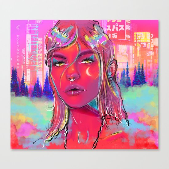 In The Night. Canvas Print