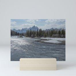 Shimmering Snake River and the Tetons Mini Art Print