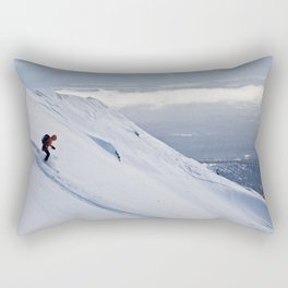 Skiers at Hatcher Pass (2) Rectangular Pillow