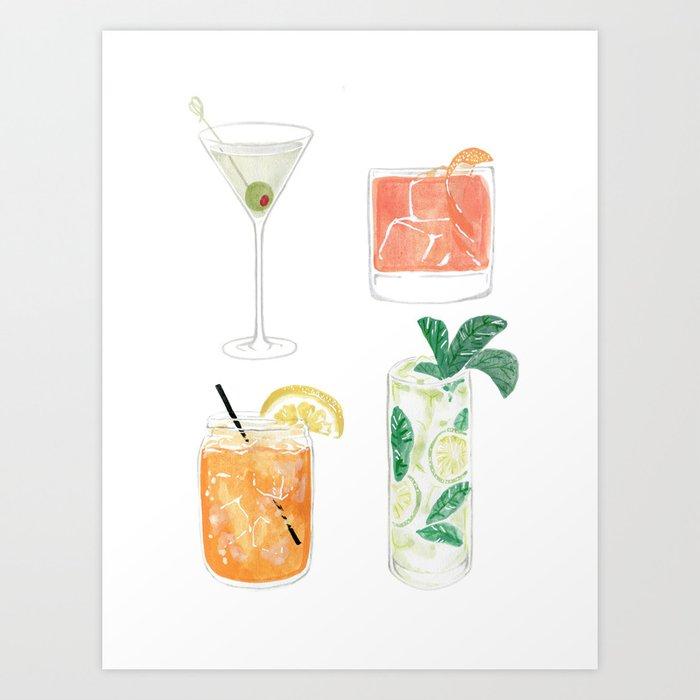 Colorful cocktails Kunstdrucke