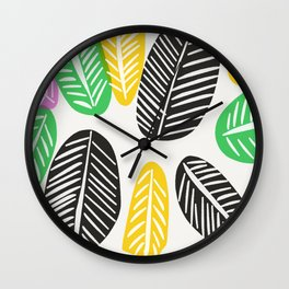 Summer Leaves Wall Clock