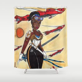 The Liberator and the Airships Shower Curtain