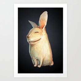 smile rabbit Art Print