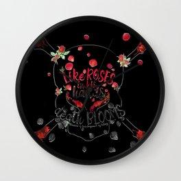 Illuminae - Death Like Roses Wall Clock