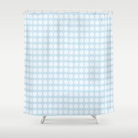 snowflake Shower Curtains featuring Snowflake by Laura Maria Designs