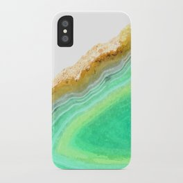 Druze green agate iPhone Case