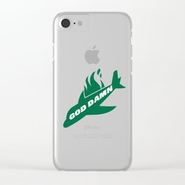 Jets God Dam Funny New York Football Clear iPhone Case
