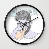 zayn Wall Clocks featuring Zayn by Megandoods