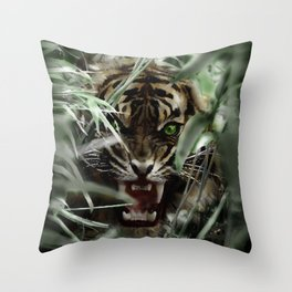 Tiger Eye Throw Pillow