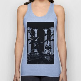 300 Black and White Unisex Tank Top