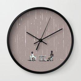 Glass half full kind of people Wall Clock