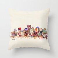virginia Throw Pillows featuring richmond virginia  by bri.buckley