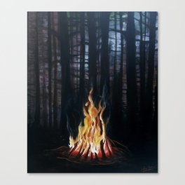 Campfie Strories Canvas Print