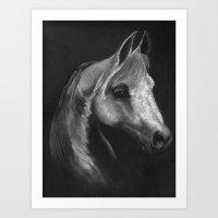 arab Art Prints featuring Arab horse portrait by Mindgoop