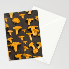 Chantterelles On A Dark Grey Background - Autumn Harvest - #Society6 #buyart Stationery Cards