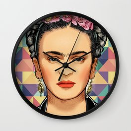 Frida Pattern Wall Clock
