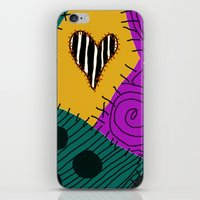 nightmare before christmas iPhone & iPod Skins featuring Sally - Nightmare Before Christmas by Lea Bostwick