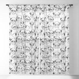 Oh Pugs Sheer Curtain