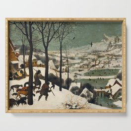 Pieter Bruegel The Elder - Hunters In The Snow, Winter Serving Tray