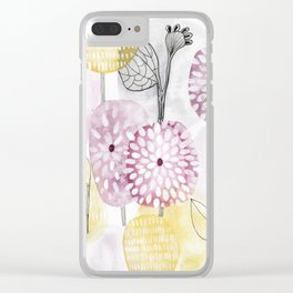 Petals and flowers Clear iPhone Case