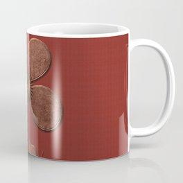 Cute Copper Look Flower Red Canvas Coffee Mug