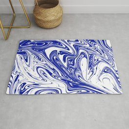 Marble,liquified graphic effect decor Rug