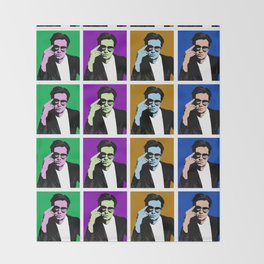 Sebastian Stan Pop Art Throw Blanket
