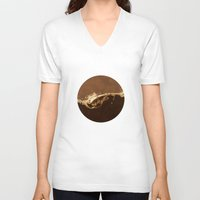 chocolate V-neck T-shirts featuring Chocolate by Richard George Davis