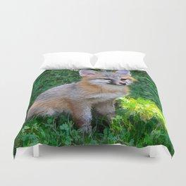 Little Grey Fox Duvet Cover