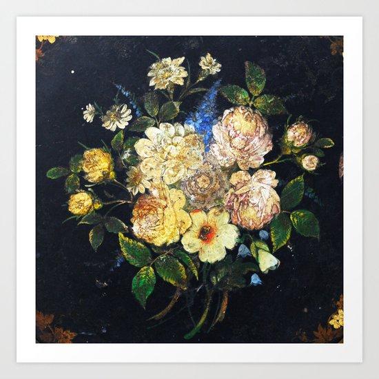 Vintage Flowers 2 Art Print
