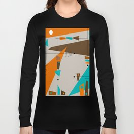 Mid-Century Rectangles Abstract Long Sleeve T-shirt