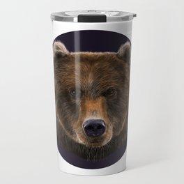 Brown Bear illustration by artist Robert Clear Travel Mug