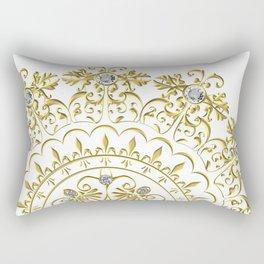 Beautiful Flourish Medallion Rectangular Pillow