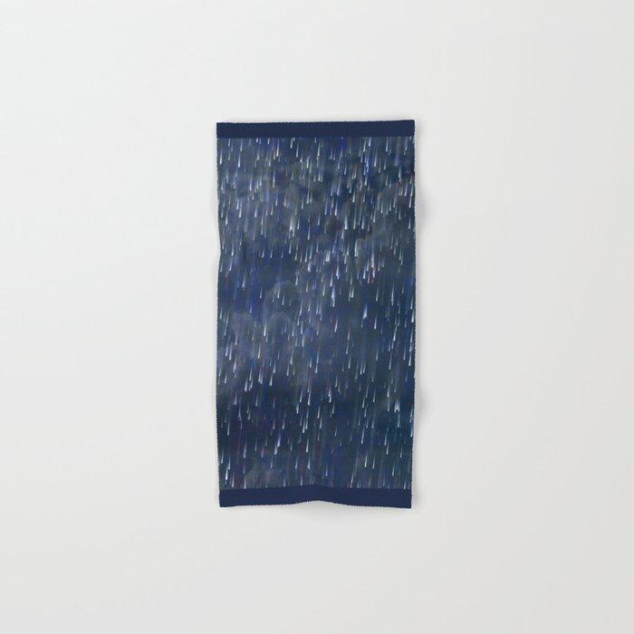 Raining Blue Hand & Bath Towel