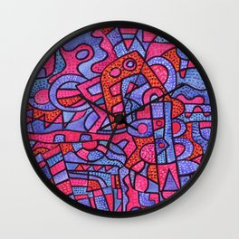 Intangible fire. Wall Clock