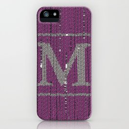 Winter clothes II. Letter M iPhone Case